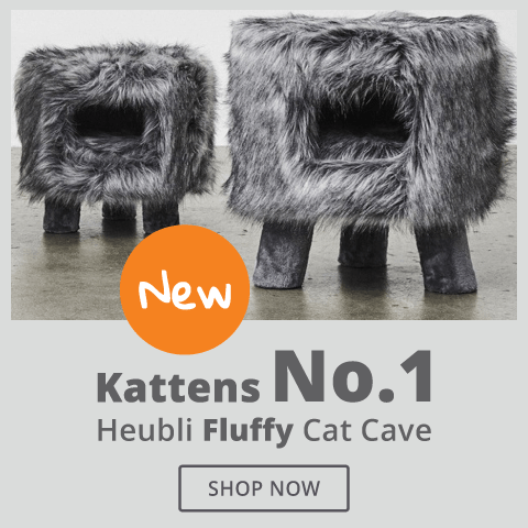 Kattens No. 1 Heubii Fluffy Cat Cave - Grey