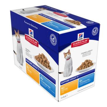 Hill's Active Longevity Chicken & Ocean Fish Cat Food Pouches