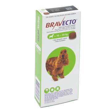 Bravecto Medium Dog 10-20kg Chewable Tick & Flea Tablet