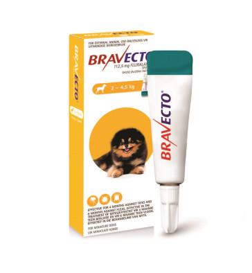 Bravecto Spot On Miniature Dog 2-4.5kg Tick & Flea Treatment
