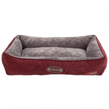 Scruffs Self-Heating Thermal Lounger Cat Bed - Burgundy