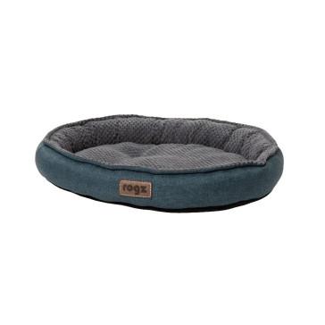 Rogz Athens Pod Fleece Lined Cat Bed - Petrol Blue