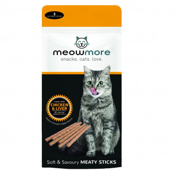 Meow More Chicken & Liver Cat Treat - 15g