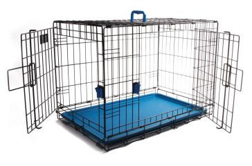 M-Pets Voyager Wire Pet Crates - Blue