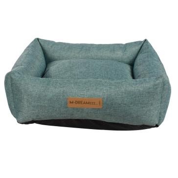 Oleron Basket Dog Bed-Blue
