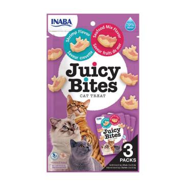 Juicy Bites Shrimp & Seafood Mix Cat Treats - 3 Pack