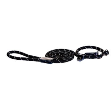 Rogz Rope Moxon Dog Lead-Black