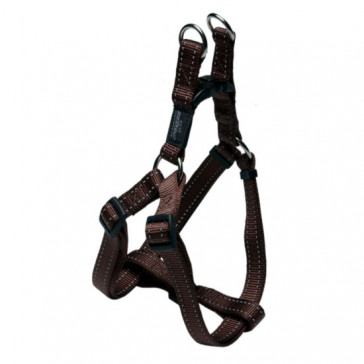 Rogz Utility Step-In Reflective Dog Harness-Brown