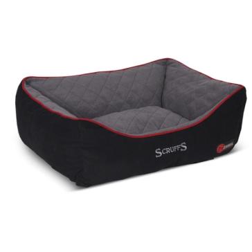 Scruffs Self-Heating Thermal Box Dog Bed - Black