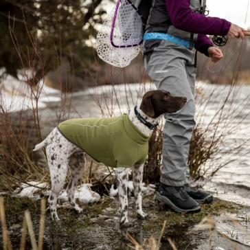 Ruffwear Climate Changer Fleece Dog Jacket - Cedar Green