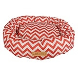 Tasmanian Round Cushioned Cat Bed-Red
