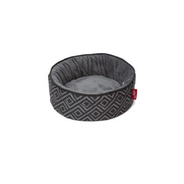 Wagworld Cosy Cup Pet Bed - Black & Grey
