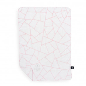 Dog's Life Geometric Blanket - Pink