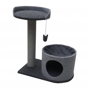 Rosewood Charcoal Felt Scratch Cat Tower