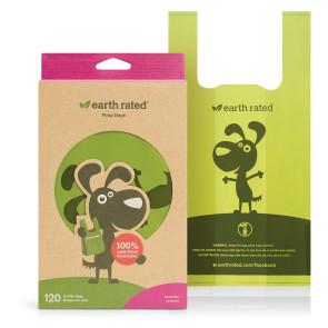 Earth Rated Easy Tie Handle Poop Bags - Lavender Scented - 120