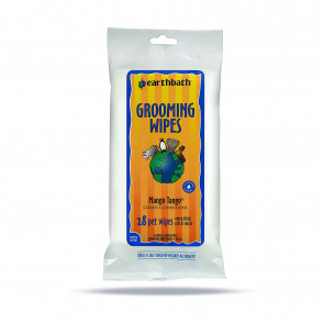 Earthbath 2-in-1 Mango Tango Conditioning Grooming Wipes - Pack 28