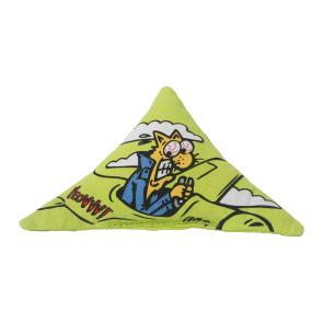 Yeowww! Catnip Purrmuda Triangle Cat Toy - Green