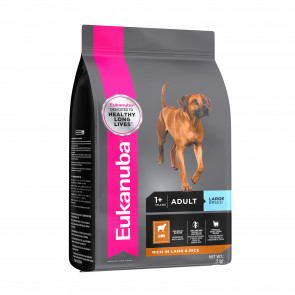 adult large breed lamb & rice dog food