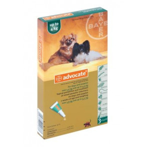 Advocate Puppy & Small Dog Tick, Flea & Worm Spot-On Treatment - 1-4kg