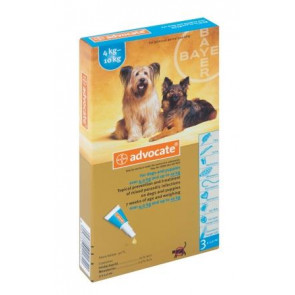 Advocate Medium Dog Tick, Flea & Worm Spot-On Treatment - 4-10kg