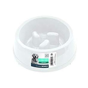 Anti-Scoff Melamine Dog Bowl-White