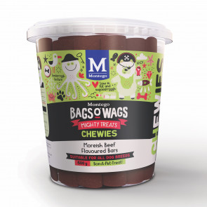 Montego Bags O Wags Moreish Beef Chewies Dog Treats