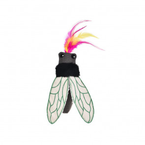 Cat's Life Beetle Cat Toy with Feather - Black
