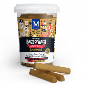 Montego Bags O Wags Peanut Butter Flavoured Toffee Puppy Chewies