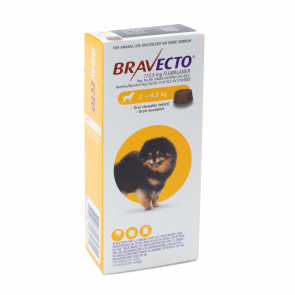 Bravecto Miniature Dog 2-4.5kg Chewable Tick & Flea Tablet