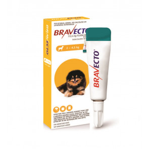 Bravecto Spot On Miniature Dog 2-4.5kg Tick & Flea Treatment
