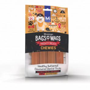 Montego Bags O Wags Butternut Dental Chewies Tubs Dog Treats-120g
