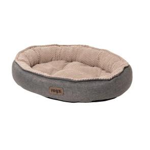 Rogz Athens Pod Fleece Lined Cat Bed - Grey