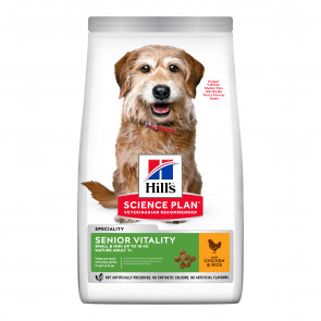 Hill's Science Plan Senior Vitality Chicken Small & Mini Adult Dog Food