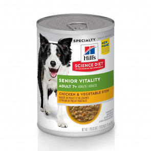 Hill's Science Plan Senior Vitality Chicken & Vegetable Wet Adult Dog Food
