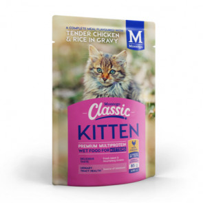 Montego Classic All Breed Chicken & Rice in Gravy Kitten Food Pouch