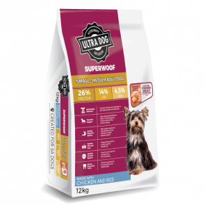 Ultra Dog Superwoof Chicken and Rice Small-Medium Adult Dog Food