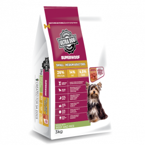 Ultra Dog Superwoof Beef and Rice Small-Medium Adult Dog Food