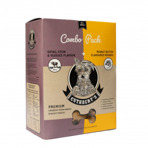 Cuthbert's Oxtail & Peanut Butter Combo Pack Dog Biscuits - 1kg