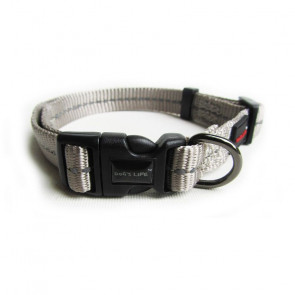 Dog's Life Reflective Supersoft Webbing Dog Collar-Grey