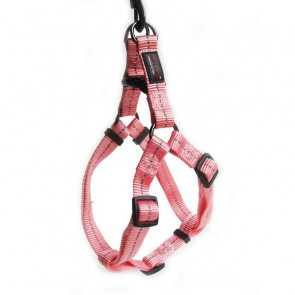 Dog's Life Reflective Supersoft Webbing Step-in Dog Harness-Pink