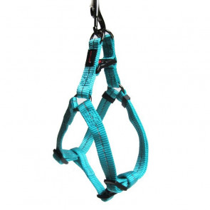 Dog's Life Reflective Supersoft Webbing Step-in Dog Harness-Turquoise