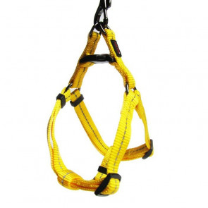 Dog's Life Reflective Supersoft Webbing Step-in Dog Harness-Yellow