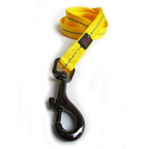 Dog's Life Reflective Supersoft Webbing Dog Lead-Yellow