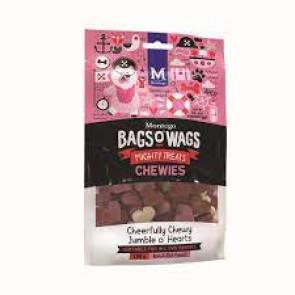 Montego Bags O Wags Jumble o' Hearts Chewies Tubs Dog Treats-120g