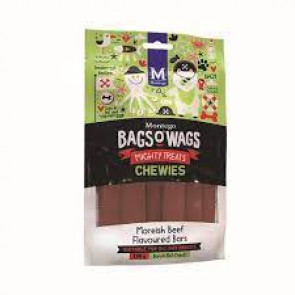 Montego Bags O Wags Moreish Beef Chewies Dog Treats-120g