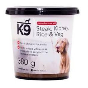 K-9 Steak, Kidney Rice & Veg Dog Food Tub
