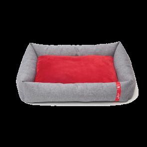 Wagworld Dream Pod Pet Bed - Light Grey & Red