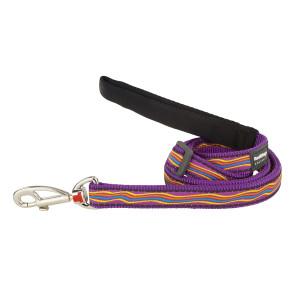 Red Dingo Design Adjustable Dog Lead - Dreamstream Purple