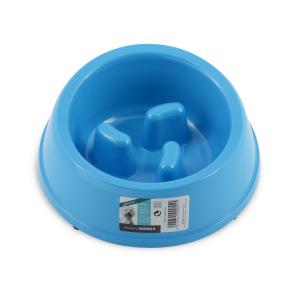 Anti-Scoff Melamine Dog Bowl-Blue