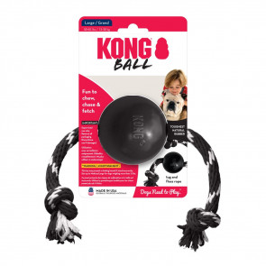 Kong Extreme Ball with Rope Dog Chew Toy - Large